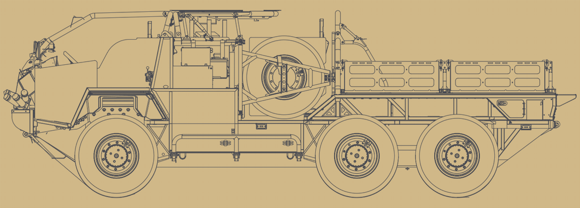 Line drawing of the Supacat HMT 600