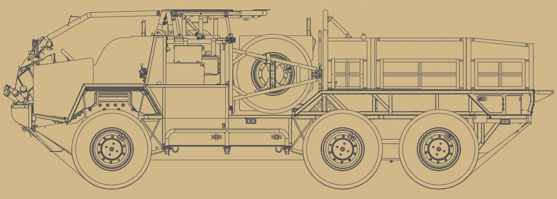 Line drawing of the Supacat HMT EXTENDA