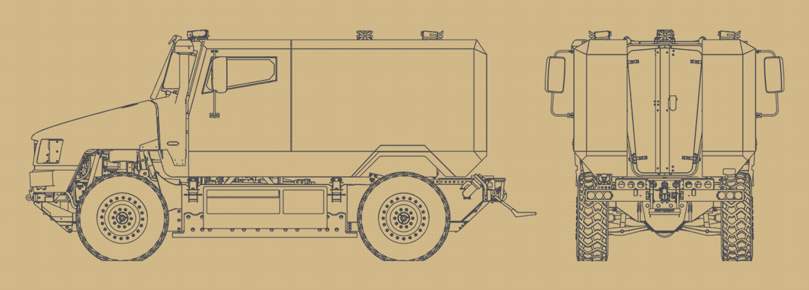Line drawing of the Supacat SPV400